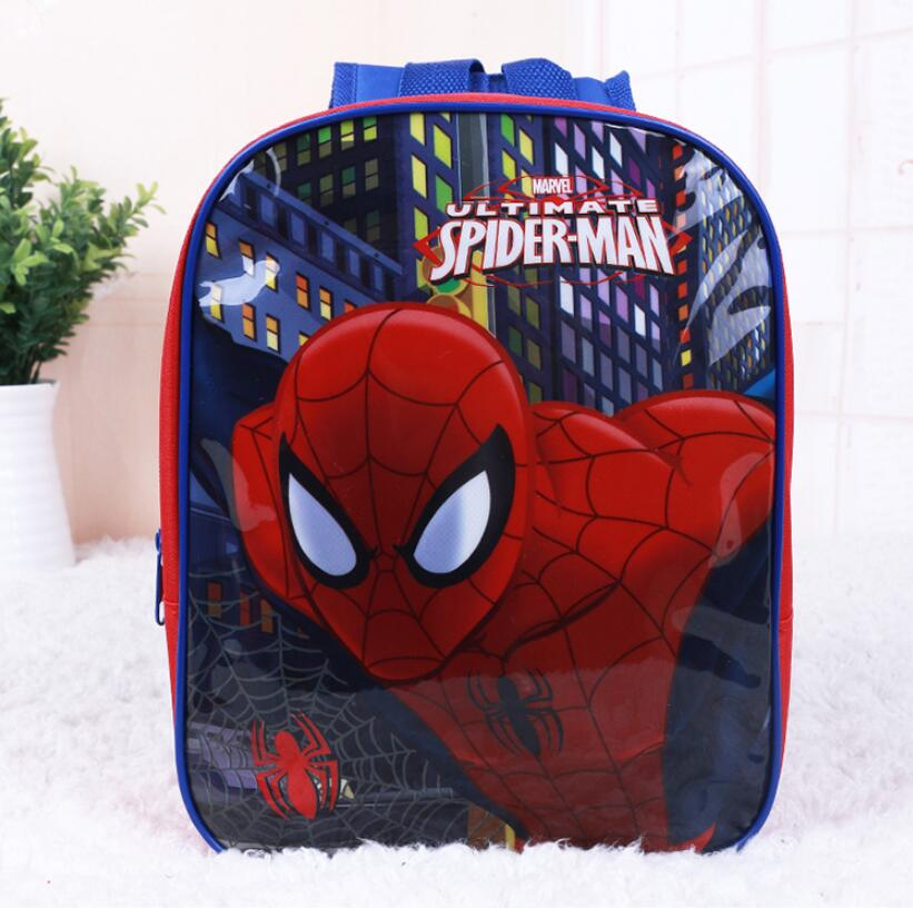 New Kids Cartoon Spiderman Schoolbag Baby Girls Lovely Pirncess Kindergarten Backpacks Cute Children Bag Best Gift