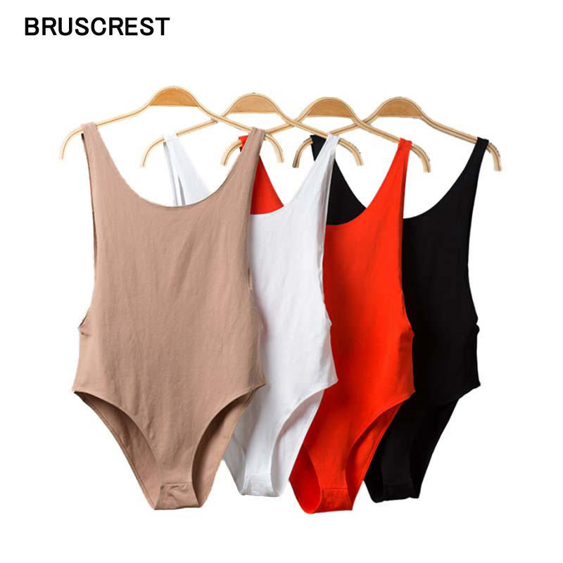 Sexy Backless Slim White Black Sexy Bodysuit Women Bodycon Sleeveless Sheath Playsuits Female Casual Party Stretchy Summer 2019