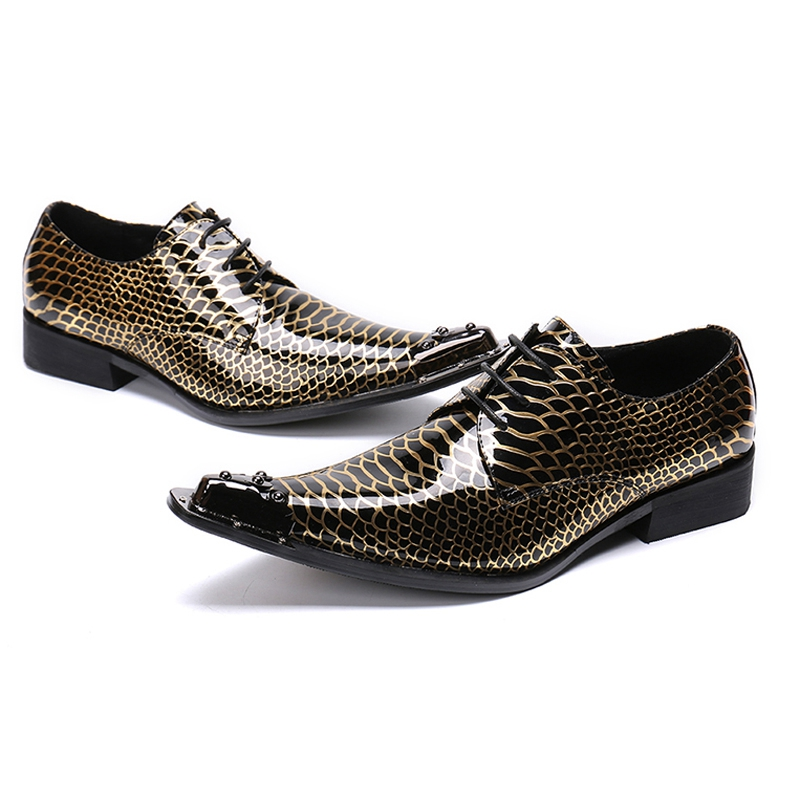 Italianos Boda Fiesta Oro Vestido Patente Metal Para Zapatos Lujo Formal Sl406 Cuero Diseñador De Punta Mocasines Puntiaguda Derby Hombre BUxEw0tq