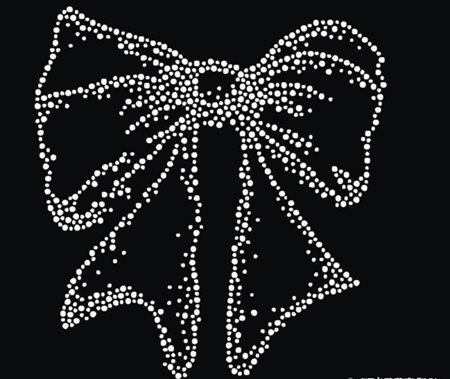 2pc lot Bowknot hot fix rhinestone transfer motifs iron on crystal transfers  design iron on applique patches for shirt ee171fb014a9