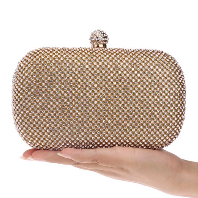 Full rhinestones women evening bags diamonds purse day clutches evening bags chain shoulder messenger bag