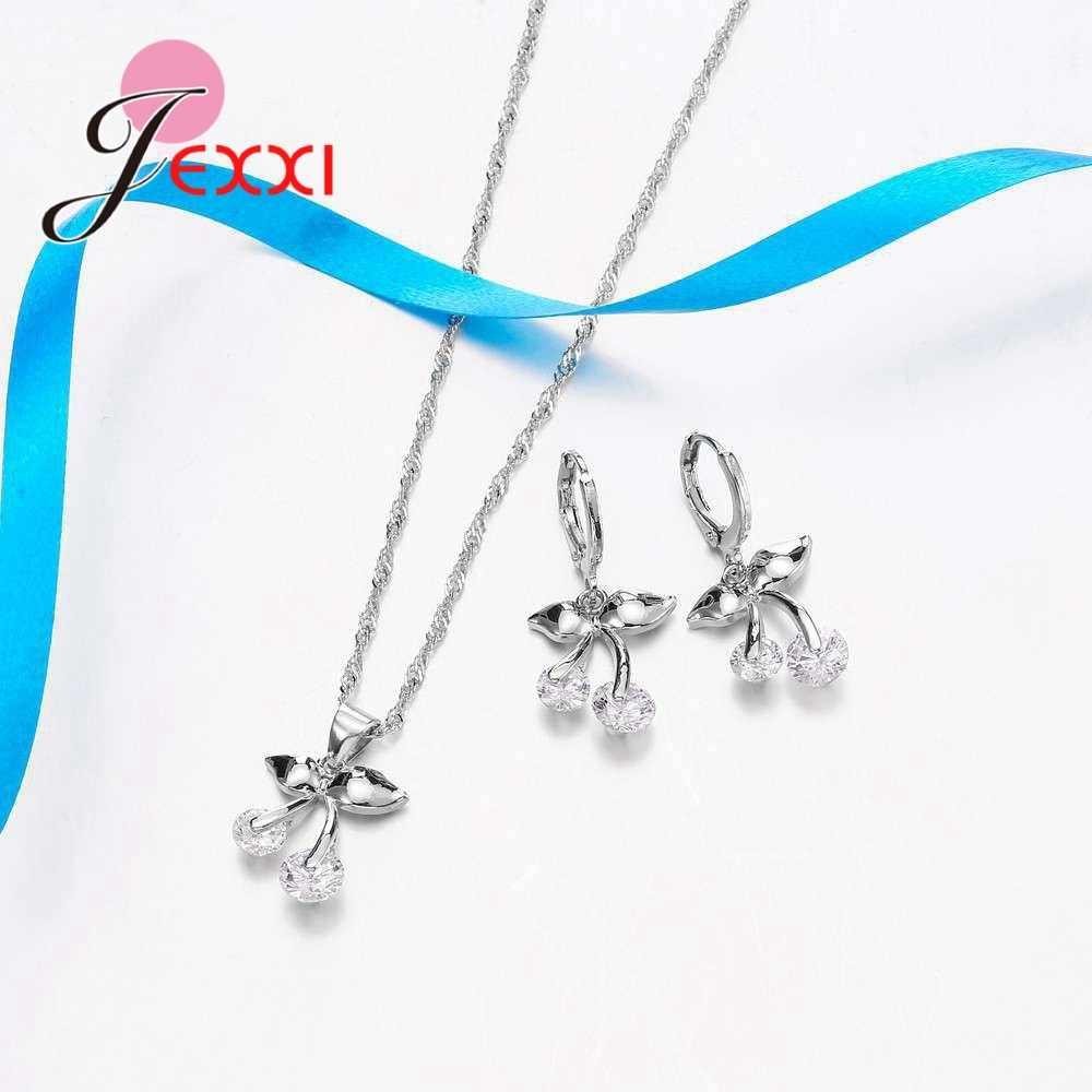 Dubai Schmuck Sets Halskette und Ohrringe 925 Sterling Silber Schmuck Set Bijouterie Hochzeit Dekorationen Bijoux Colier Mariage