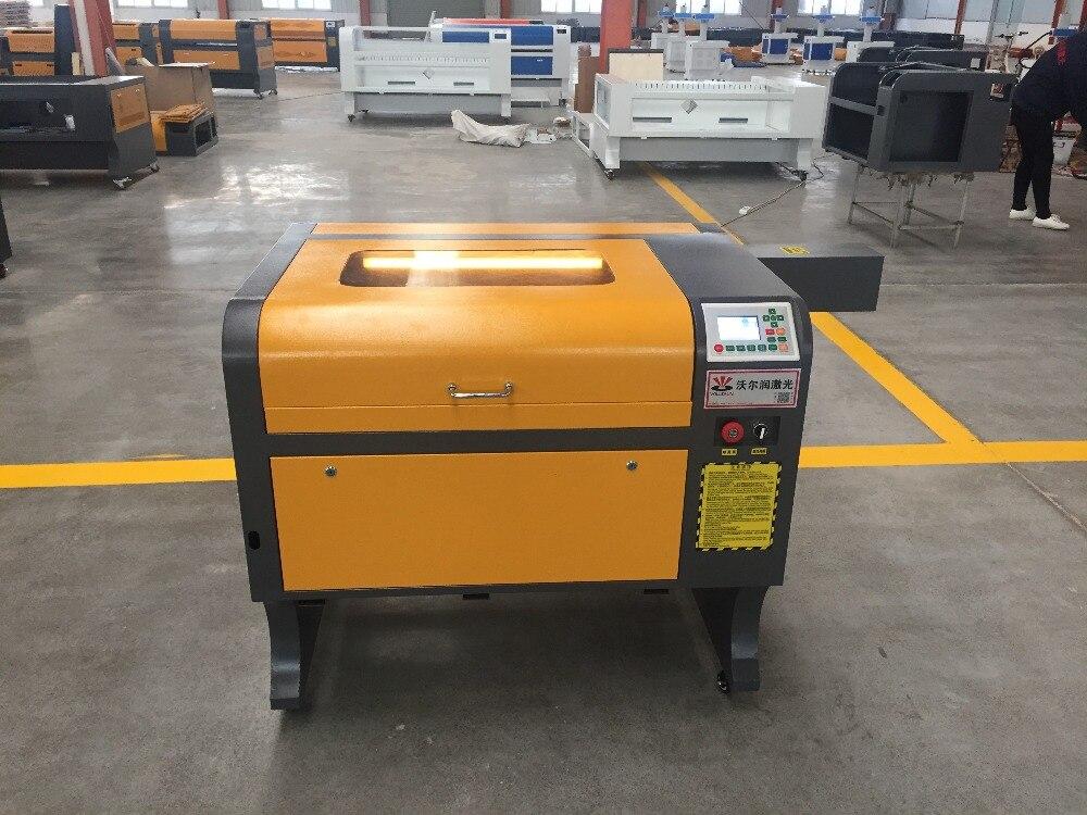 VOIERN WR4060 50 W RUIDA co2 máquina de gravação a laser, 220 v/100 v cortador de laser, máquina de gravura do CNC