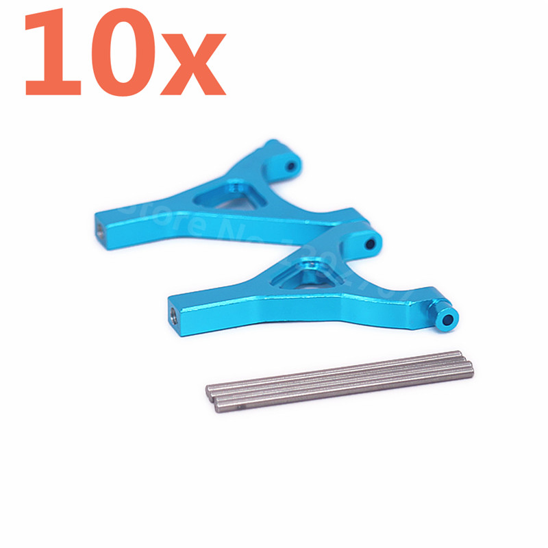 10 Pieces Aluminum Alloy Upgrade RC Car Parts Front/Rear Upper Suspension Arm A-Arm TRA7031 For Rc Hobby Car 1/16 Traxxas Slash василий алферов на исходе лета