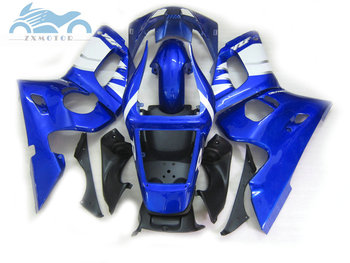 Upgrade your motorcycle fairing kits for YAMAHA YZFR6 1998 1999 2000 2002 YZF R6 98-02 blue white fairings body repair set EBA10