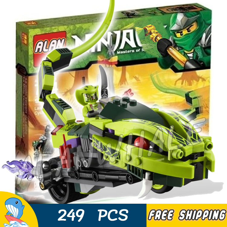 249pcs New 9774 Ninja Lasha's Bite Cycle Cole Venomari Model Building Blocks Kids Toys Bricks Gifts Sets Compatible With lego 2016 new ninja kay fight building blocks sets 94 pcs bricks model toys ninjagoes compatible legoelieds toy without retail box