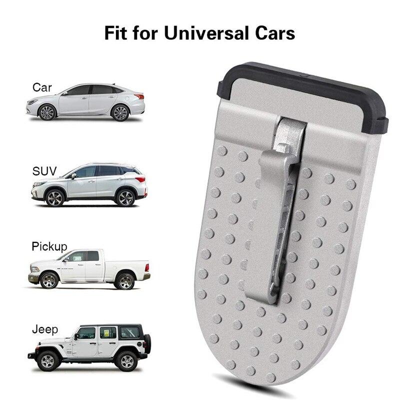 Автомобиль, лесенка подсел на стопы Алюминий двери автомобиля Шаг легкий доступ Автомобиль на крыше автомобиля молоток безопасности для внедорожник jeep