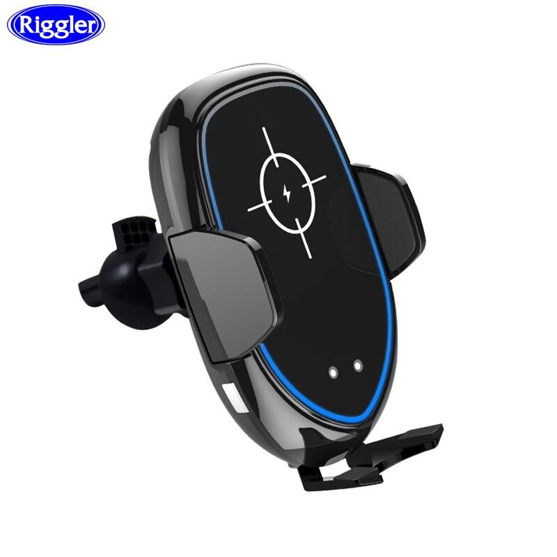 Support de chargeur de voiture sans fil ribaner support de pince automatique à Induction infrarouge pour Huawei P30Pro iphone XS XR 8 Plus support de Charge rapide