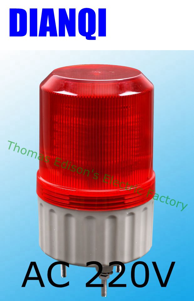 Buzzer Sound Rotating Industrial Signal Tower Warning Light Red Yellow Blue Green