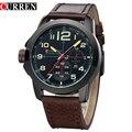 Curren Watches Men Top Brand Luxury Cow Leather Strap Quartz-Watches Sport Men's Watches Waterproof Relogio Heren Hodinky 8182B