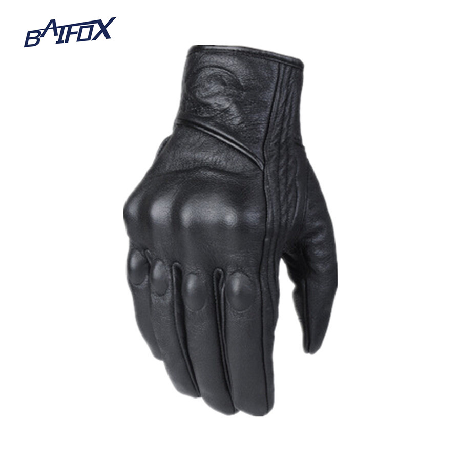 Leather motorcycle gloves best - Best Price Free Shipping Leather Winter Motorcycle Gloves Cycling Moto Motorbike Protective Gears Motocross Glove