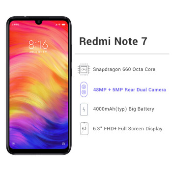 Global ROM Xiaomi Redmi Note 7 Mobile Phone Automotive