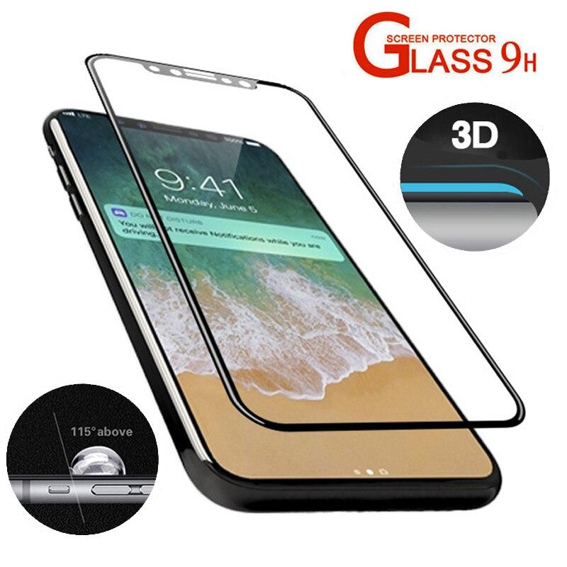 Ausgeglichenes Glas Schirm Schutz Film Fur Apple IPhone X IPhoneX 9 H HD Real 3D Gebogene Full Cover Beste Anti Fingerprint In
