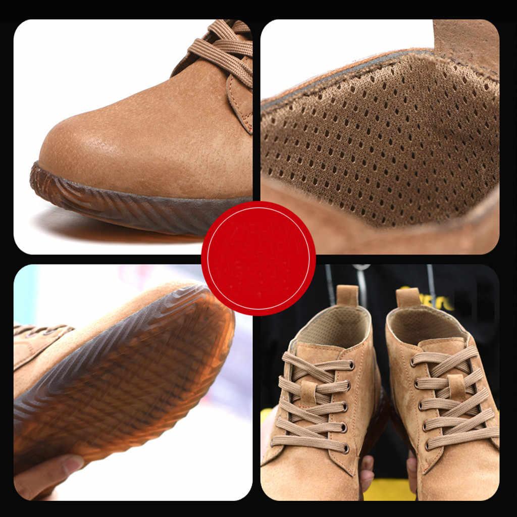 Heren schoenen casual Zomer 2019 Hot Koop Womens Mens Veiligheid Stalen Neus Werk Wandelen Ademend Trainers Laarzen Schoenen plus size