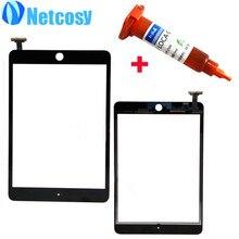 De alta Calidad Para El mini de Apple 1/2 Táctil en Blanco y Negro pantalla de Cristal Digitalizador Reemplazo para el ipad mini 1 y 2 + 5 mL Pegamento UV