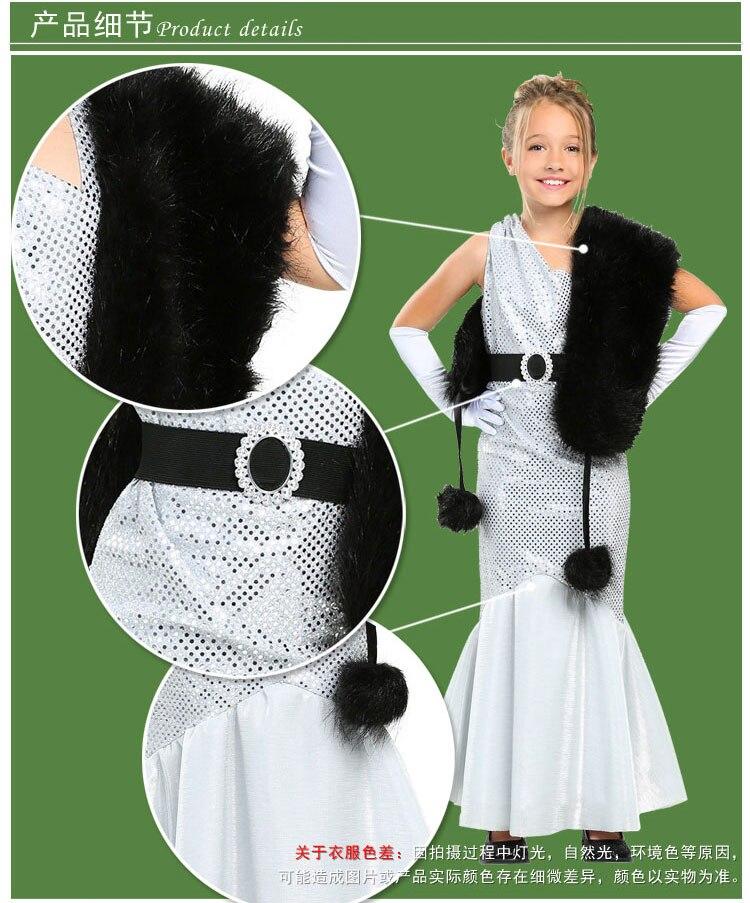Irek Girls Silver Movie Star Costume Halloween Cosplay Costume Set
