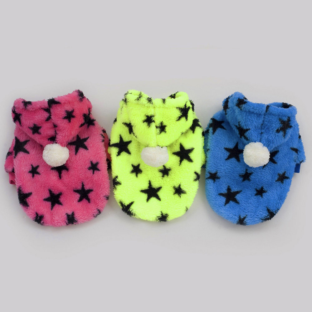 Warm Dog Clothes For Small Dogs Pentagram Pattern font b Pet b font Clothing Winter font