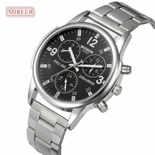 MIGEER Men watches 2019 NEW high quality brand Luxury Fashion Man Crystal Stainless Steel Analog Quartz Wrist Watch Feb A25