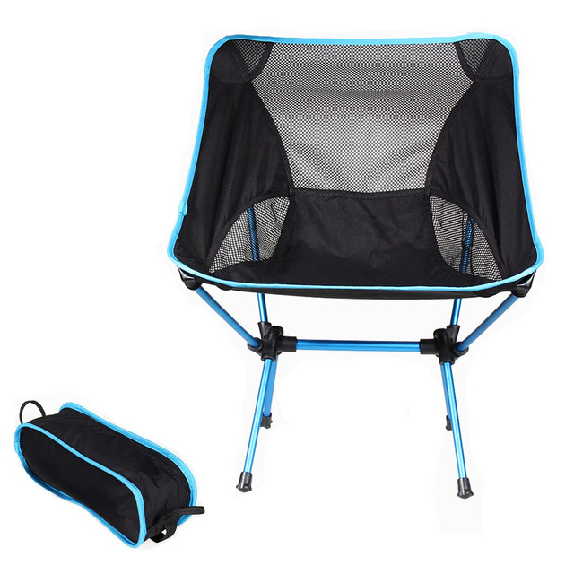2020 Outdoor Camping Chair Oxford Cloth Portable Folding Camping Chair Seat for Fishing Festival Picnic BBQ Beach Stool With Bag 4