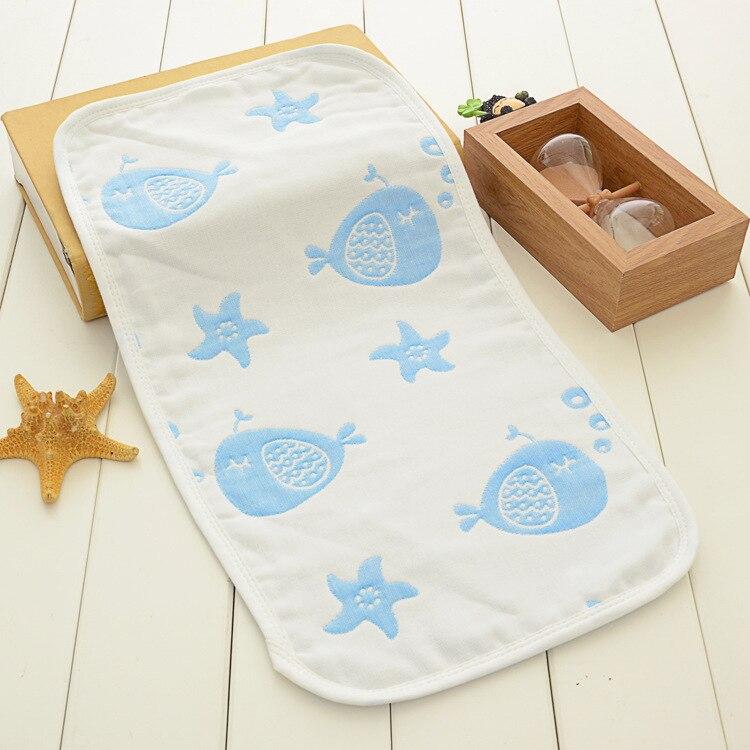 Купить с кэшбэком Muslin Cotton Baby Towel 4 Layers Gauze Newborn Kids Cartoon Cute Pattern Handerchief 22*45cm Soft Infant Wipe Cloth Soft Towel