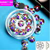 clear crystal AB 1440pcs AAA New Facted (8 big+8 small) SS16 SS20 Nail Art hotfix Rhinestones FOR clothes glitter free ship