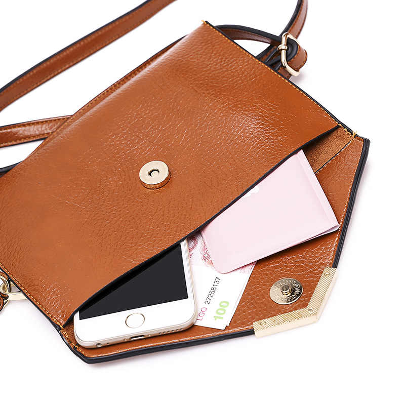 100% женские сумки из натуральной кожи 2019 новые европейские модные женские сумки простая дикая сумка через плечо съемная двойная сумка