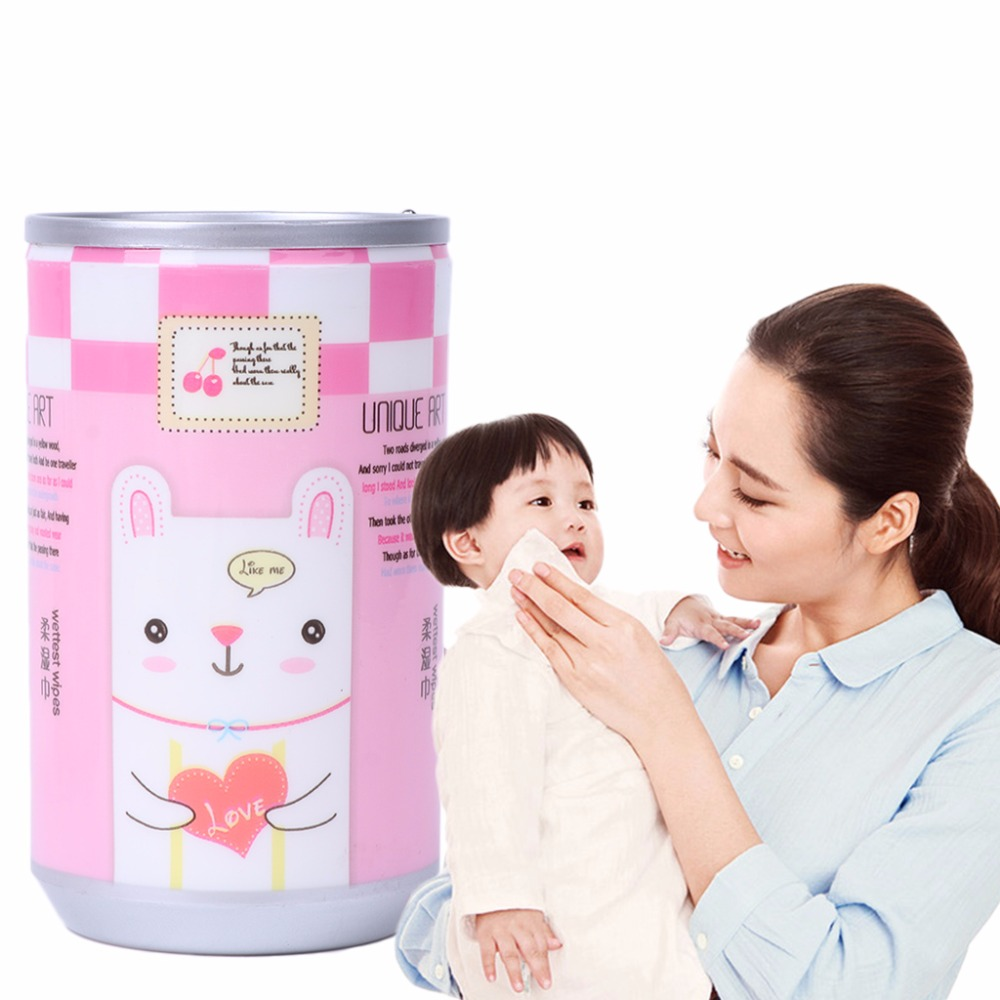 30 Sheets Creative Kids Baby Mini Wet Paper Wipes For Home Travel Use Convenient