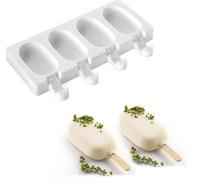 קיץ 3 רשתות סיליקון גלידת עובש עובש קרח אבא במקפיא מטבח גלידת עובש פונדנט עוגת מוס בית DIY יצרנית