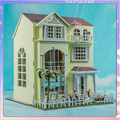 Diy Кукольный Дом С мебелью Модель Строительство Комплекты 3D Миниатюрный Ручной Деревянный Кукольный Домик Greative Рождество Подарок На День Рождения Подарки