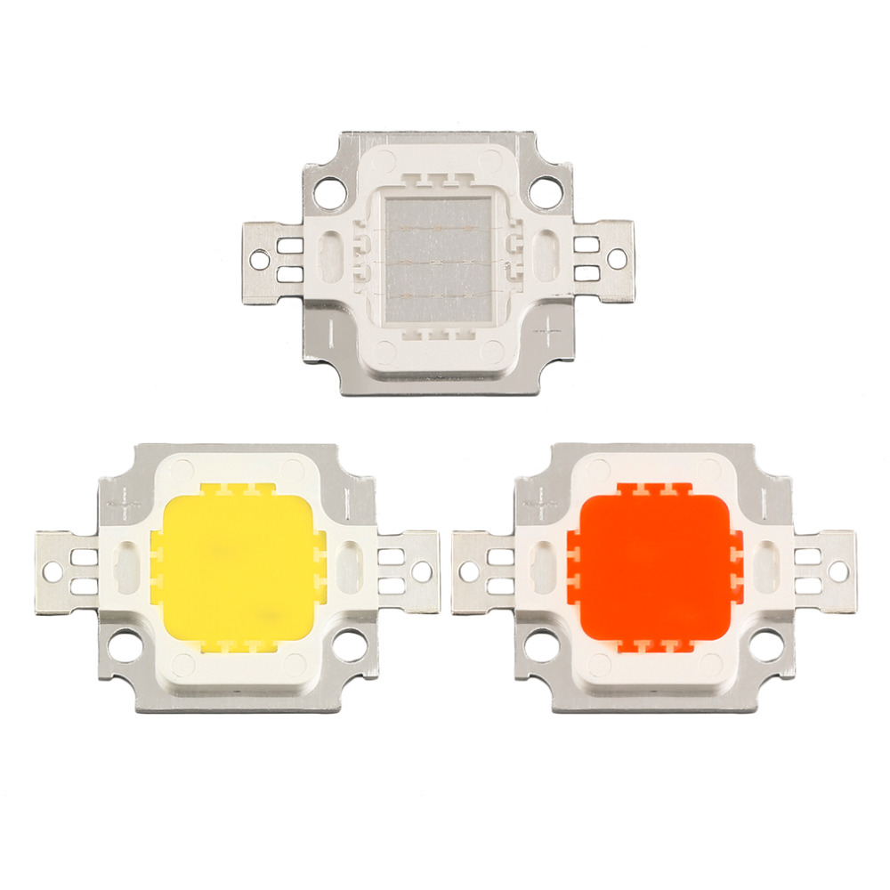 Free Shipping 2017 NEW Arrival COB Led High Power 10W LED Chip Red Yellow Blue LED Bulb Lamp Light Chip LED