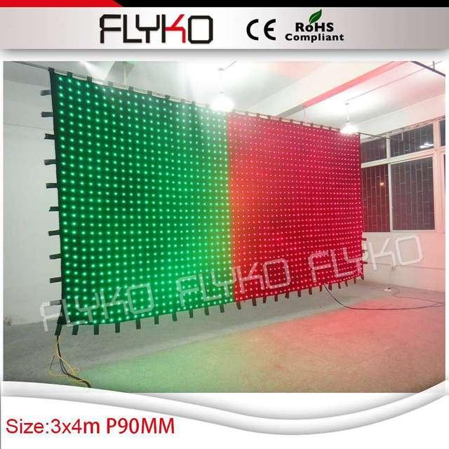 Envío libre p9cm tarjeta SD controlador de pantalla de vídeo etapa telón de fondo de tela