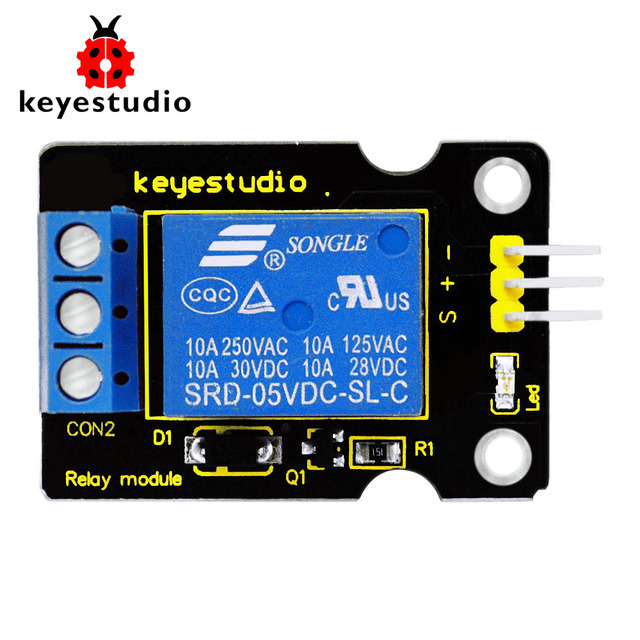 Бесплатная доставка! Keyestudio один 5 В реле модуль совместим с Arduino UNO R3 мега