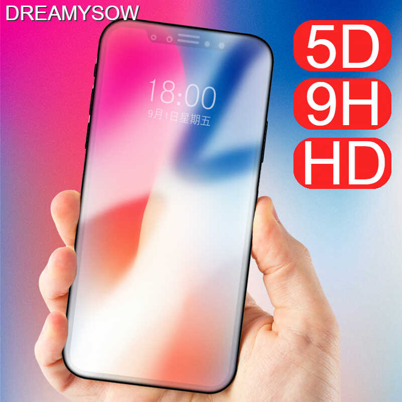 5D Curved Tempered Glass for iPhone 8 7 6S 6 X 11 Full Cover Film for iPhone 6s 6 7Plus 8Plus XS MAX XR Screen Protector cover