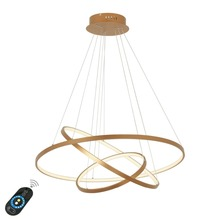 Modern Led Pendant Light Hanging Lamp Gold Painting Aluminium PC for Living Dinning Room 85-265V Free Shipping