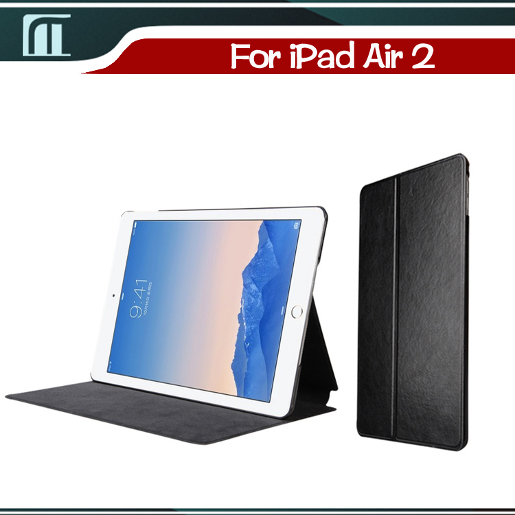 High Quality PU Leather case for Apple iPad 6 With Back Stand Cases Stand Cover for  iPad Air 2 case with Auto Sleep and Wake Up 4 shapes ultra thin silk smart case for apple ipad air 2 pu leather cover stand translucent cases for ipad 6 auto wake sleep
