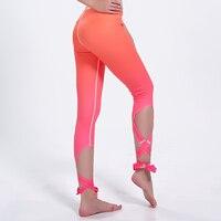 LOVE SPARK Orange Red Gradient Sexy Women Yoga Pants Women Dance Pants S To 3xl Plus