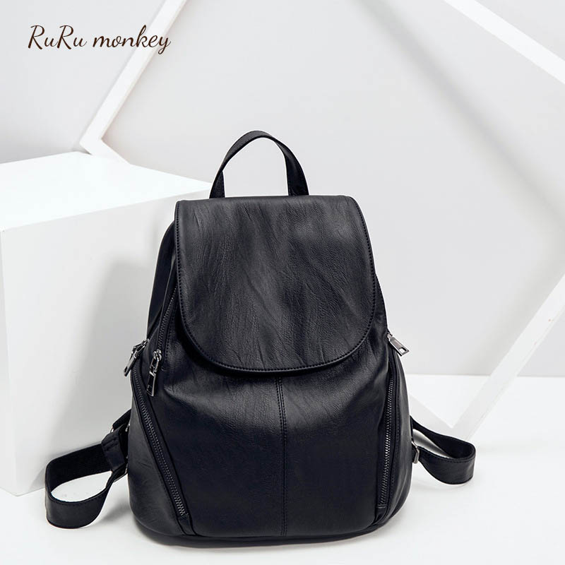 Women Backpack Leather School Bags For Teenager Fashion Ladies Satchel Travel Bag Female Preppy Style Mini Backpack Rucksack стоимость