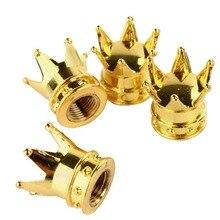 Колпачки, шины/колеса стволовых золотая тележки корона chrome стержень p воздуха комплект