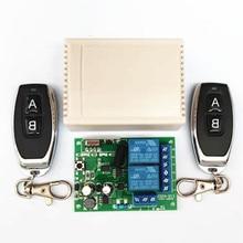 433 МГц универсальный беспроводной пульт дистанционного управления AC 250 в 110 В 220 В 2CH релейный модуль приемника и 2 шт. RF 433 МГц пульты дистанционного управления