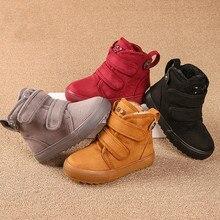 2017 оригинальные детские ботинки Martin зимняя детская обувь ботинки для девочек Обувь для мальчиков Повседневная Удобная хлопковая куртка дышащие ботинки высокого качества