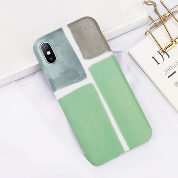 iPhone X Marble Green Case