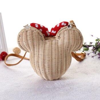 Minnie Mouse Handmade Rattan Bag 1