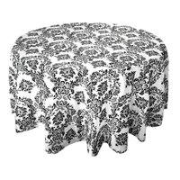 12 STÜCKE 335 cm x 335 cm Quadrat Schwarz Weiß Beflockung Damast Tisch tischdecken Für Hochzeit Tischwäsche Bankett Party dekorationen