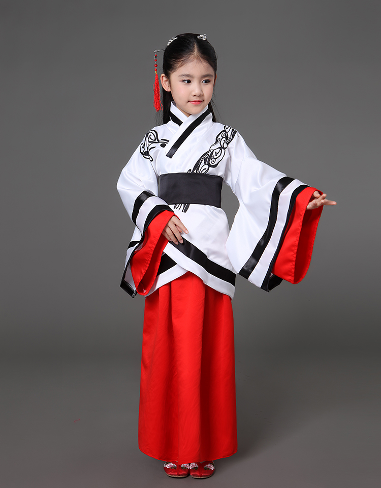8e4c21f3b Children Traditional Chinese Ancient Costume Hanfu Clothing for Girls Boys  Guzheng Classic Performance Tang Dynasty Costumes