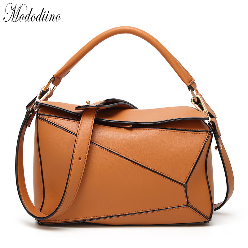 Mododiino Patchwork Leather Bag Women Handbag New Elegant Shoulder Bag Female Crossbody Bag Luxury Women Bag Designer DNV1117