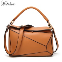 Mododiino Patchwork Leather Bag Women Handbag New Elegant Shoulder Female Crossbody Luxury Designer DNV1117