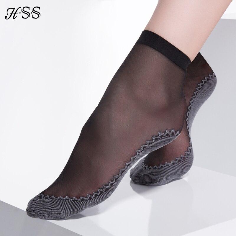 HSS высокое качество бархат Для женщин шелковые носки хлопок снизу носок летние эластичные короткие ощущение прохлады однотонная дышащая Се...