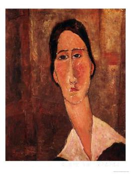 A Portrait of Jeanne Hebuterne Amedeo Modigliani painting for sale Hand painted High quality image