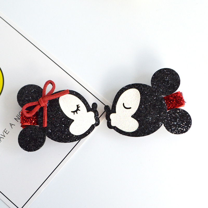Cute Minnie Mouse Ears Cartoon Hairpins Girls Kids Hair Clips Bows Accessories For Children Barrette Hairclip Headdress Headwear