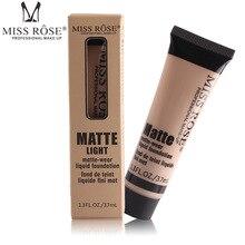 Miss Rose Brand Makeup Matte Wear Liquid Foundation Maquiagem 10 Colors Face Cream Base Fond de teint concealer